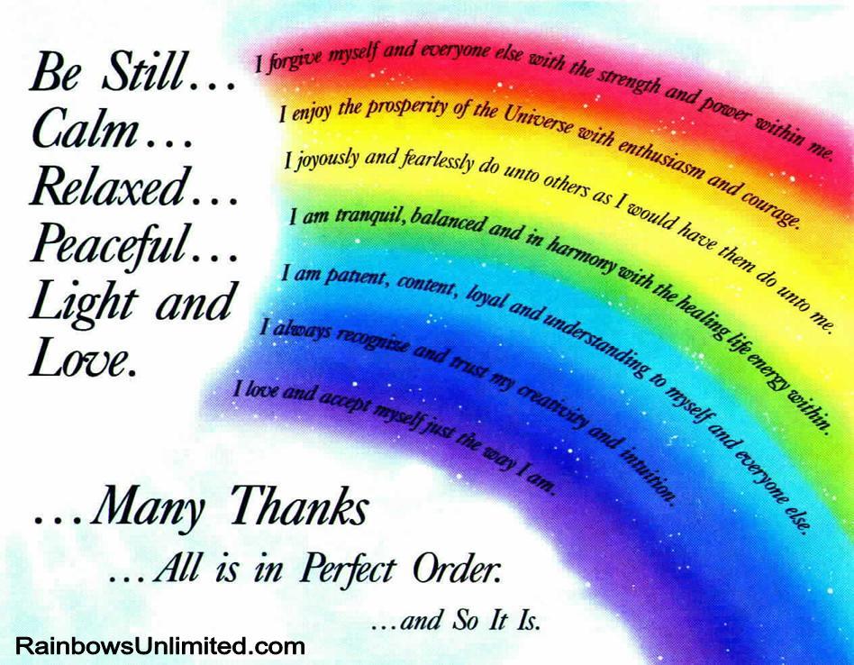 Healing Rainbow Caryl Dennis Psychic Color Healing
